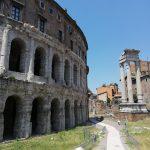 visite de Rome à travers César théatre de Marcel