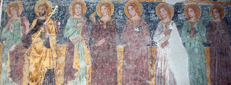 fresques du XIVe siècle
