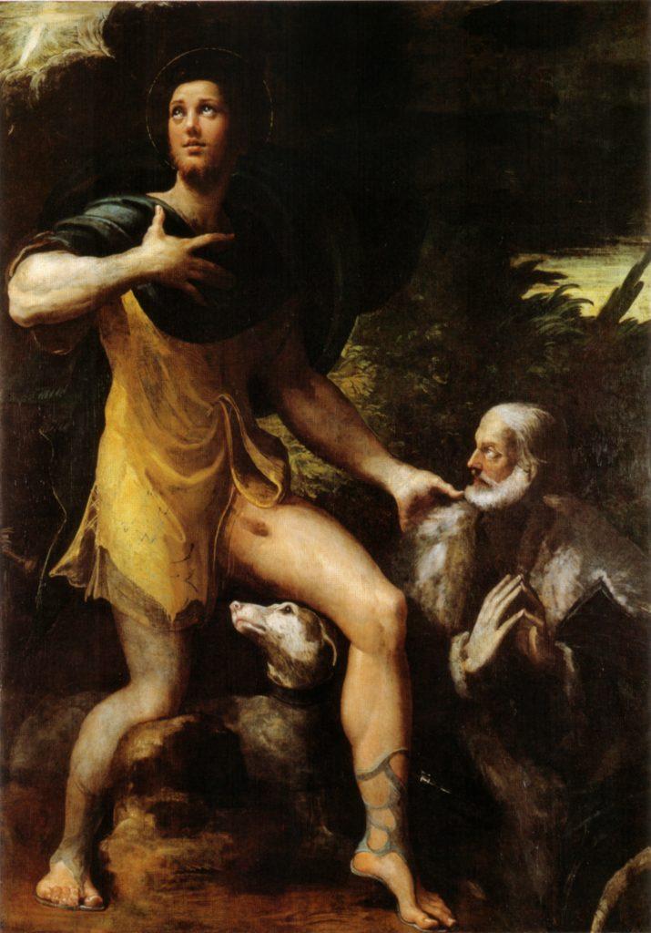 Saint Roch Tableau de Parmigianino